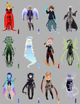Birthstone Adoptables - CHARACTERS by Corrupted-Mooch