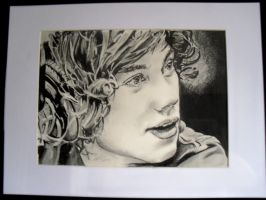 pencil work of Harry from one direction by jonesy012
