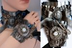 Choker And Watch set by Pinkabsinthe