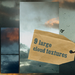 9 large cloud textures by Kiho-chan