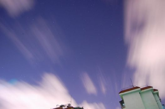 Starry Night with Clouds by lackar