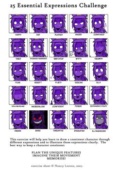 The many faces of Purple by xChibixx
