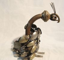 Scrap Metal Peacock by chickentikkah