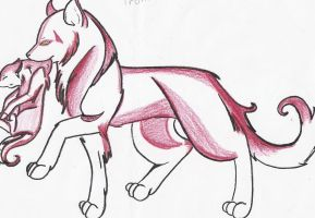 Wolfs 2  for bloodofawhitewolf by EmpressFiraya