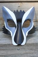 Leather Kabuki Wolf Mask by SilverCicada