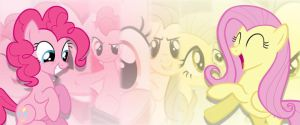 Pinkie Pie and Fluttershy Banner by MysteryEzekude