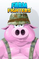 Farm Fighters vector assets - pig close-up by SolidAlexei