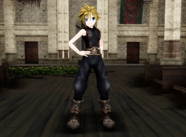 MMD Cloud Strife FFVII Lat Model by Pucaroo16