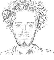 Pewds Portrait - WIP by MissSweety514