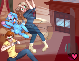 Games with Trixie Commission by ladypixelheart