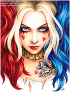 Harley Quinn - portrait by Candra