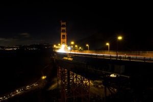 The Golden Gate at Night by Doogle510