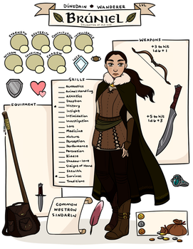 Bruniel - Character Sheet by Larkish