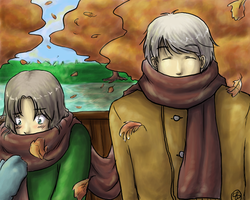 Fall warmth - Hetalia by TriaElf9