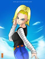 :Fanart_Android 18: by GRO-fx