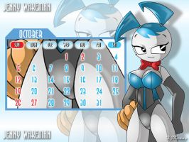 Jenny October Calendar by XJKenny
