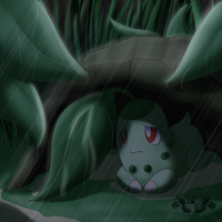 Chikorita-Shelter by Sol-Uxie