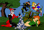 Harley and Ivy Colored by XinMyForehead