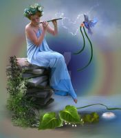 The flute sings and enchants by DeniseWorisch
