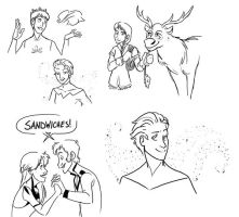 Frozen Gender Bent Doodles by RagingHue