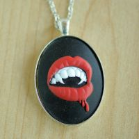 Vampire Fangs Necklace by MonsterBrandCrafts