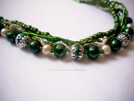 Slytherin Necklace Close-up 2 by YoyoTheMadScientist