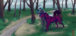 Through the Forest by Delayni