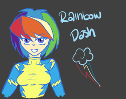 Rainbolt Dash :D by sweetkiwikisshu