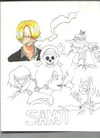 Sanji WIP by Draw4fun2