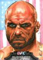 Randy The Natural Couture Topps sketch card by therealbradu
