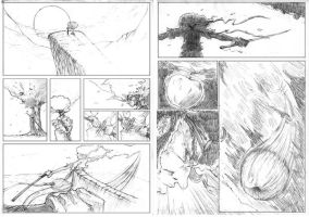 Afro Apple pg1-2 pencils by JamesWest