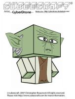 Cubeecraft - Yoda by CyberDrone