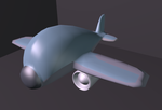 airplane model 1 by zulou