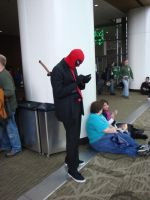 Deadpool in a suit by Lillagon