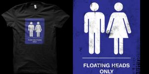 floating heads only shirt by biotwist