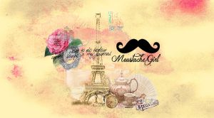 Wallpaper Moustache Girl by SriitaDeWatt
