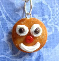 Smiley Face Pancake Charm by LittleSweetDreams