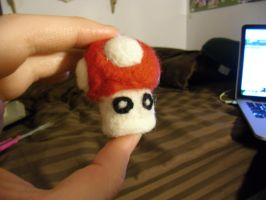 My first needle-felt craft! by AleximusPrime