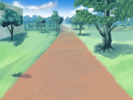 Anime Path Background by wbd
