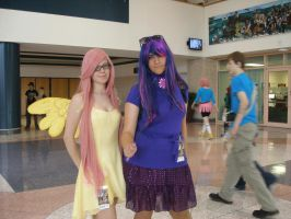 Metrocon 2013- Twilight and Fluttershy by Shannonthehedgehog96
