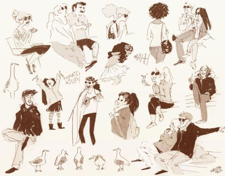 Granville Island Sketches by marlenakate