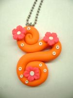 Orange Swirl Necklace by Lord-Ackbar
