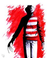 Freddy Krueger  R.I.P.Wes Craven 1939 - 2015 by DougSQ