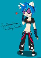 PyroTemperTantrum as Vinyl Scratch by Twistermon