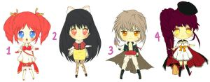 Adoptable Auction - Set 3 CLOSED by plurain