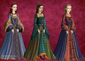 Tudor: Aragon, Boleyn and Seymour by HC-IIIX