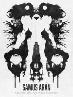 Samus Aran Metroid Geek Psychological Ink blot by studiomuku