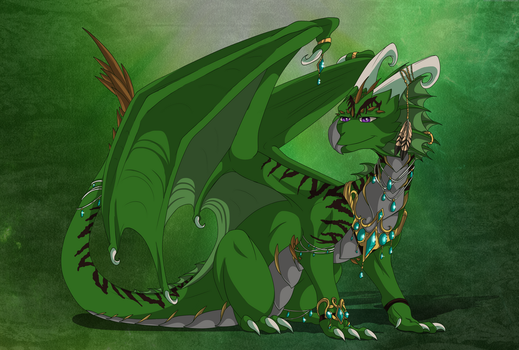 Lyra the dragoness by Anais-thunder-pen