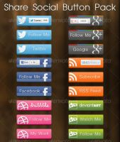 Share Social Button Pack by Southx