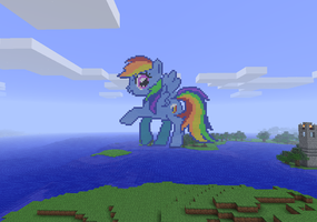 Minecraft Rainbow Dash by TheHappyCrusader